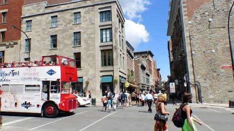 Downtown Montreal ähnelt mit siner architektonischen Vielfalt ein wenig Manhattan.