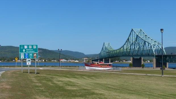 Die Grenzbrücke zu Québec