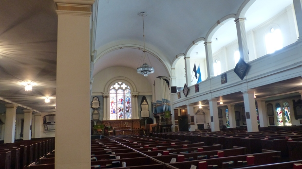 Saint Pauls Cathedral, die erste anglikanische Kirche und eine der wenigen, die ich von Innen sehen konnte.