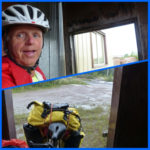 Es reichte für mich ganz und für das Fahrrad zur Hälfte. Unter einem abgestellten Tiefladeraufsatz war es zu niedrig ....