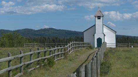 Eine methodistische Kirche,   Rest der ersten Missionierungen, ohne die es Kanada so nicht gäbe.