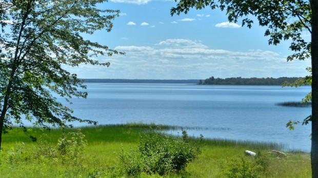 Blick von der Terasse auf den Ottawa River
