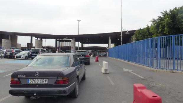 Grenzübergang nach Marokko